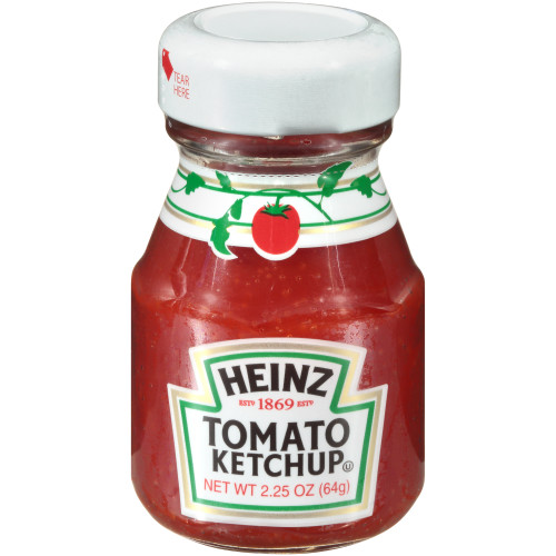 HEINZ Ketchup Single Serve Roomservice Jar, 2.25 oz. Container (Pack of 60)