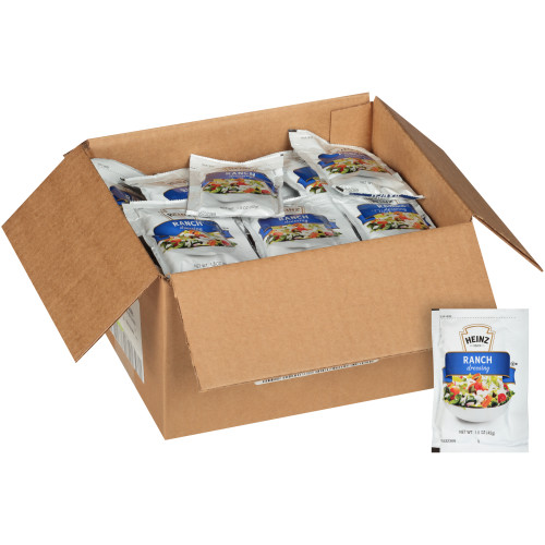 HEINZ Single Serve Ranch Salad Dressing, 1.5 oz. Packets (Pack of 60)