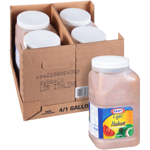 KRAFT Bulk Reduced Fat Italian Salad Dressing, 1 gal. Jug (Pack of 4)