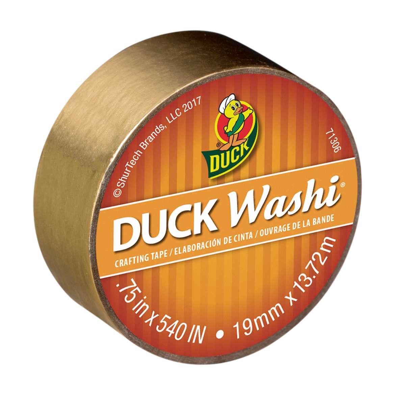 Duck Washi® Crafting Tape - Metallic Gold, 0.75 in. x 15 yd. Image