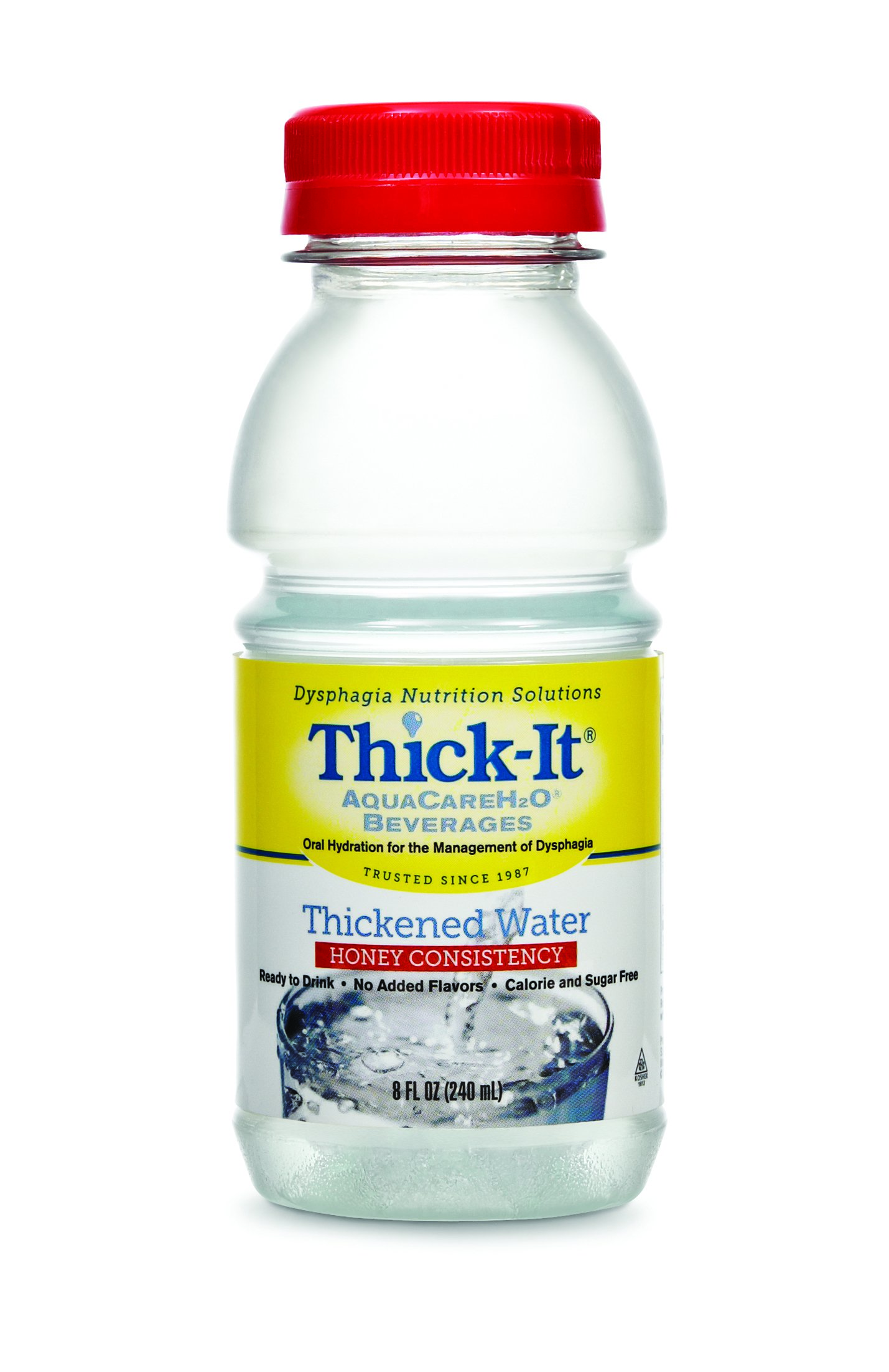 Thick-It AquaCareH2O Thickened Water 8 oz. Bottle Unflavored Ready to Use Honey Consistency, B453-L9044 - EACH
