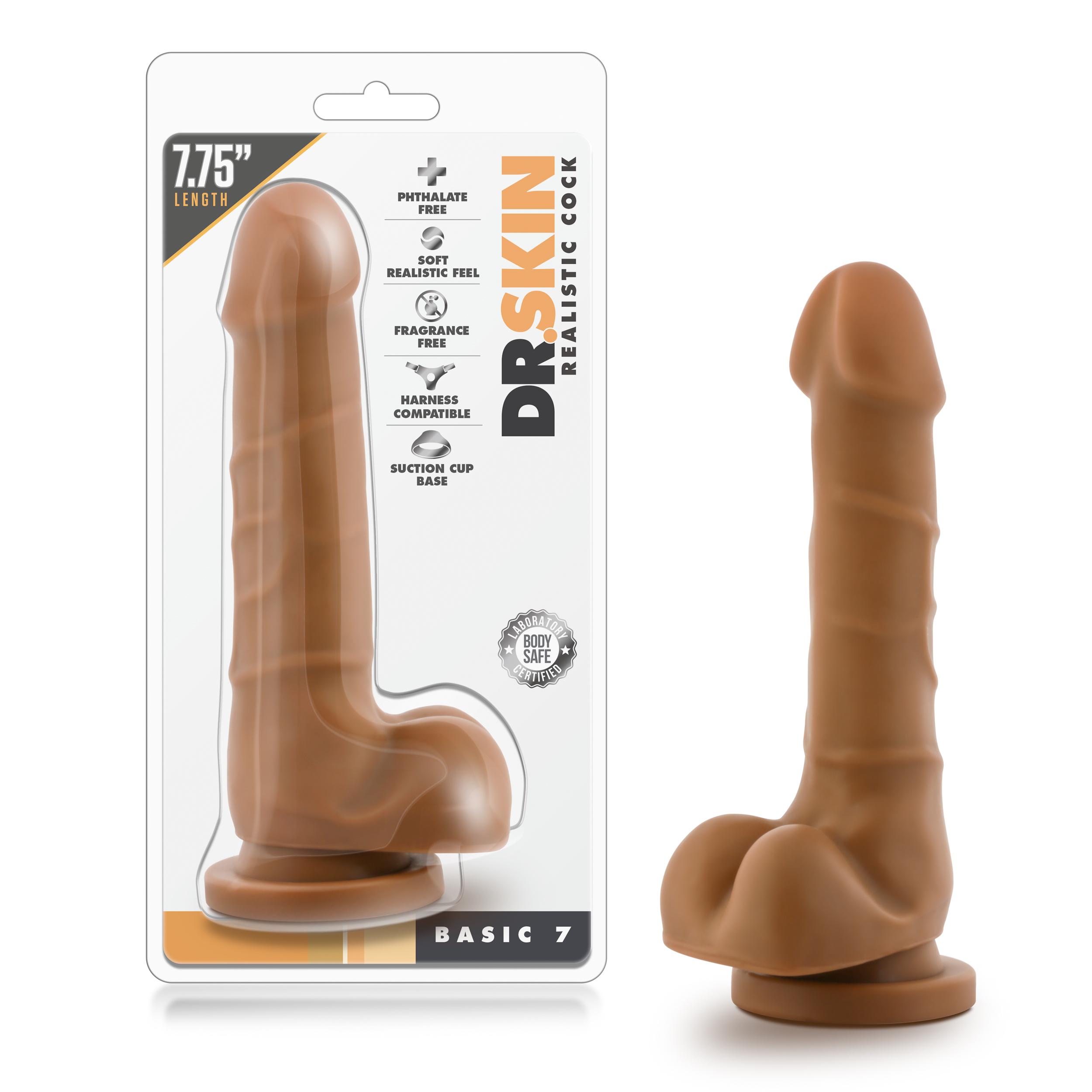 Dr. Skin - Realistic Cock - Basic 7 - Mocha