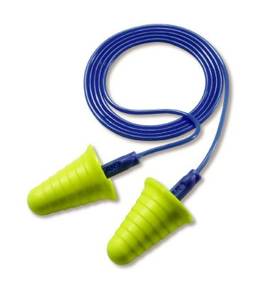 3M™ E-A-R™ Push-Ins™ with Grip Rings Corded Earplugs, Hearing Conservation, 318-1009  in Poly Bag 2000 pair/case