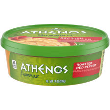 Athenos Roasted Red Pepper Hummus 14 oz Tub
