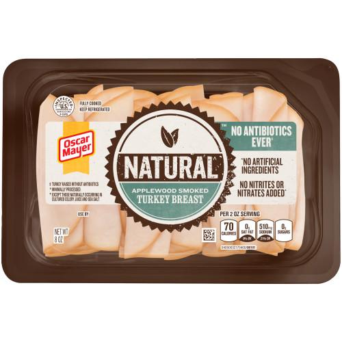 Oscar Mayer Natural Applewood Smoked Turkey Breast Tray, 8 oz