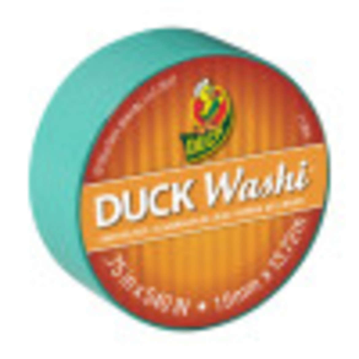 Duck Washi® Crafting Tape - Turquoise, 0.75 in. X 15 yd. Image