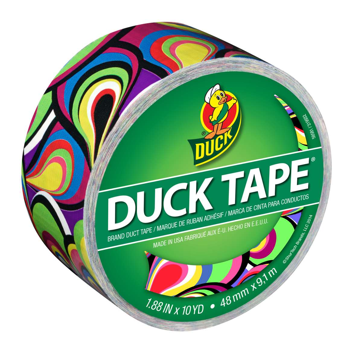 Printed Duck Tape® Brand Duct Tape - Marble Peacock, 1.88 in. x 10 yd. Image
