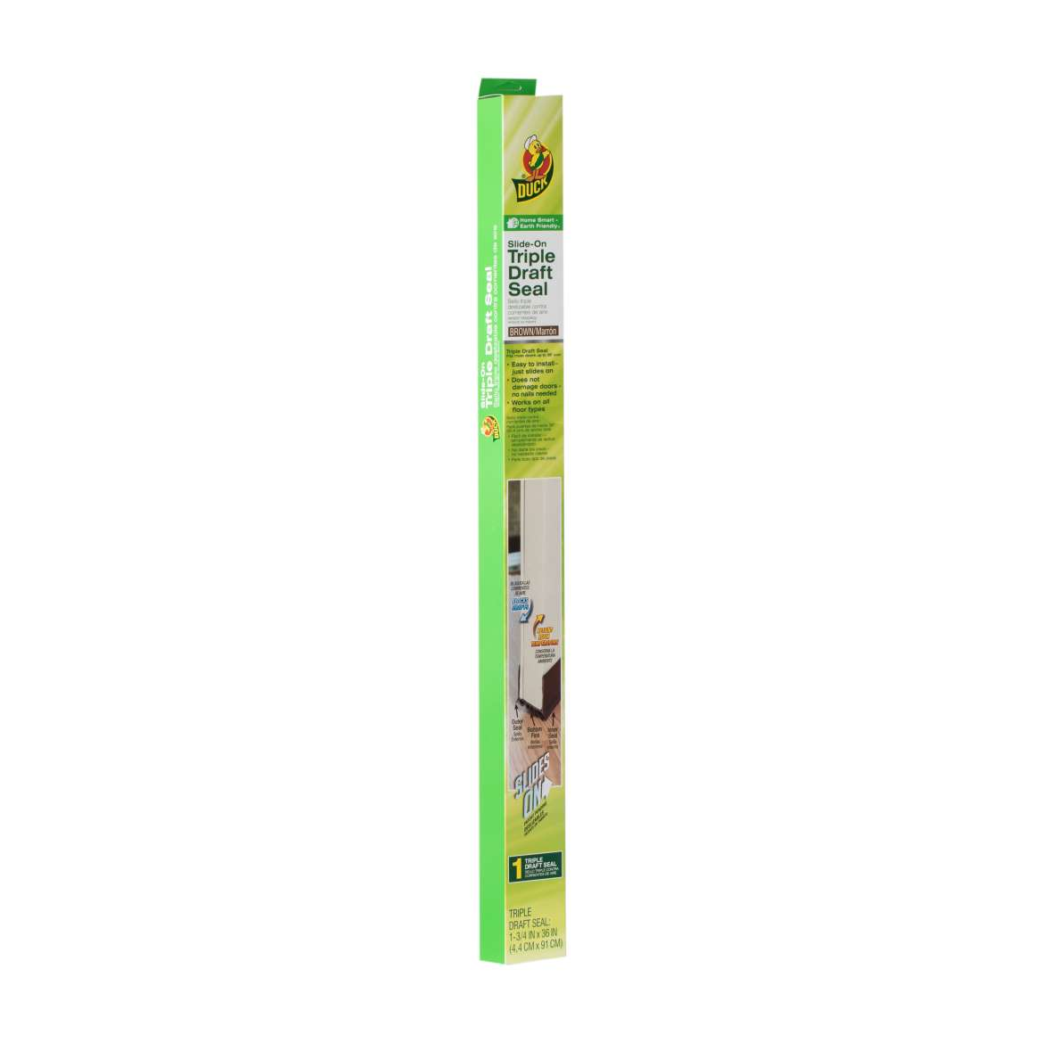 Duck® MAX Triple Draft Seal - Brown, Fits up to 36 in. wide Image
