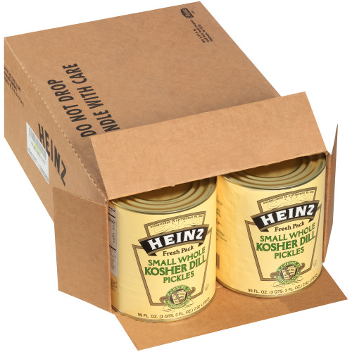 HEINZ Whole Dill Pickles, 99 fl. oz. Tins (Pack of 6)