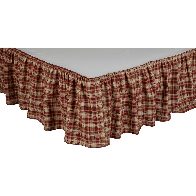 Beckham Plaid King Bed Skirt 78x80x16