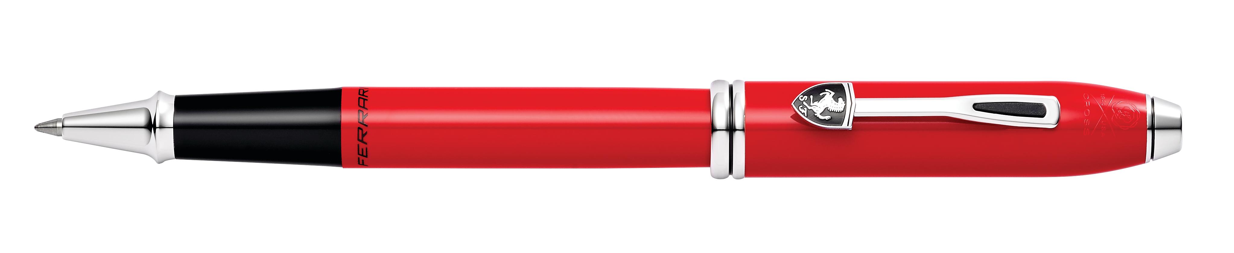 Cross Townsend Collection for Scuderia Ferrari Glossy Rosso Corsa Red Lacquer Rollerball Pen