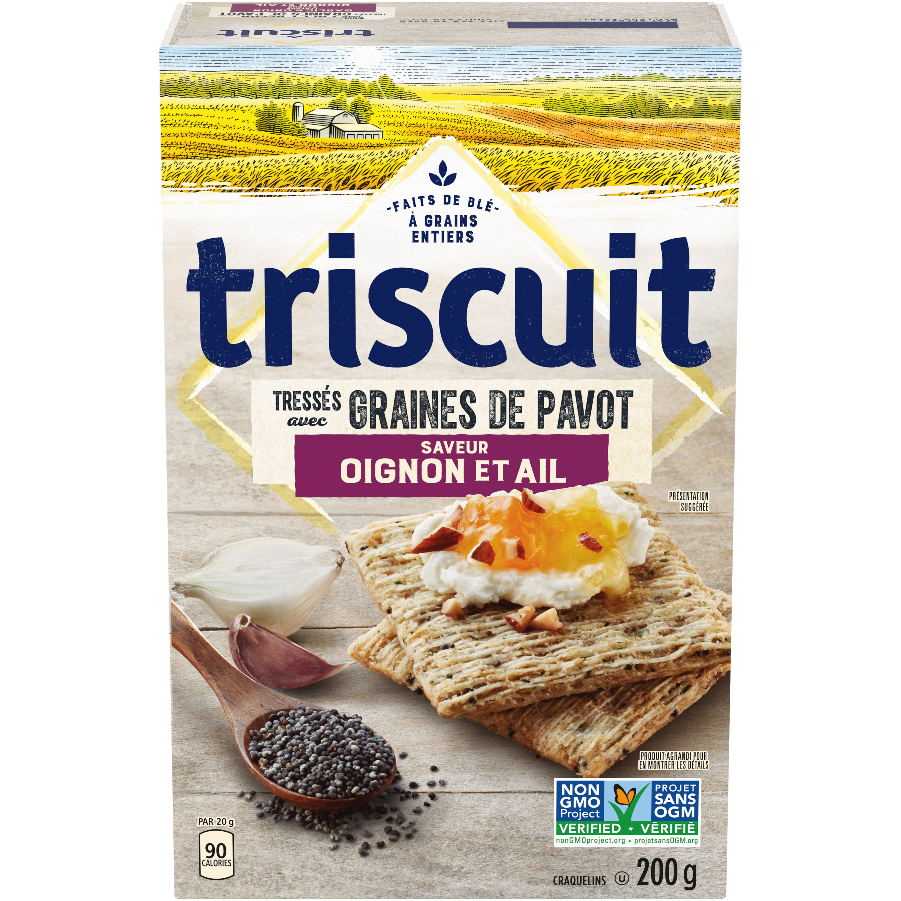 Triscuit , Onion & Poppy Seeds Crackers 200 G