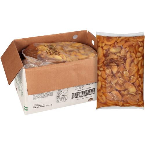 QUALITY CHEF Cinnamon Apples, 6 Lb. Bag (Pack Of 5)
