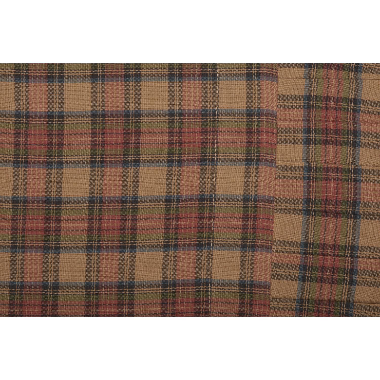 King Standard Cotton Plaid Pillow Case Set 2 Pillowcases Cover VHC Primitive