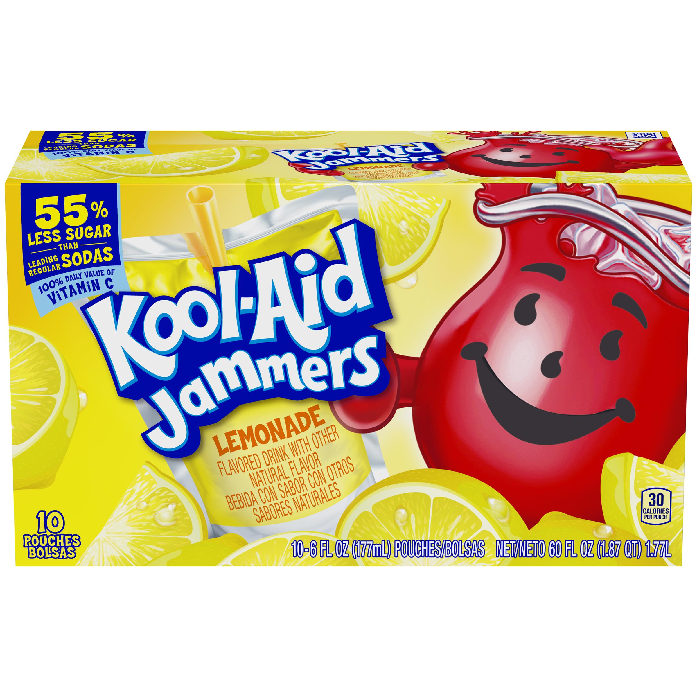 Kool-Aid Jammers Lemonade Flavored Drink 60 fl oz Box (10-6 fl oz Pouches) image