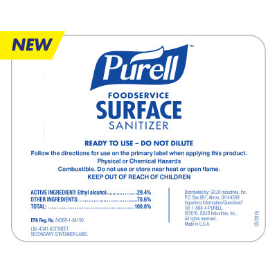Bottle Label – PURELL® Foodservice Surface Sanitizer