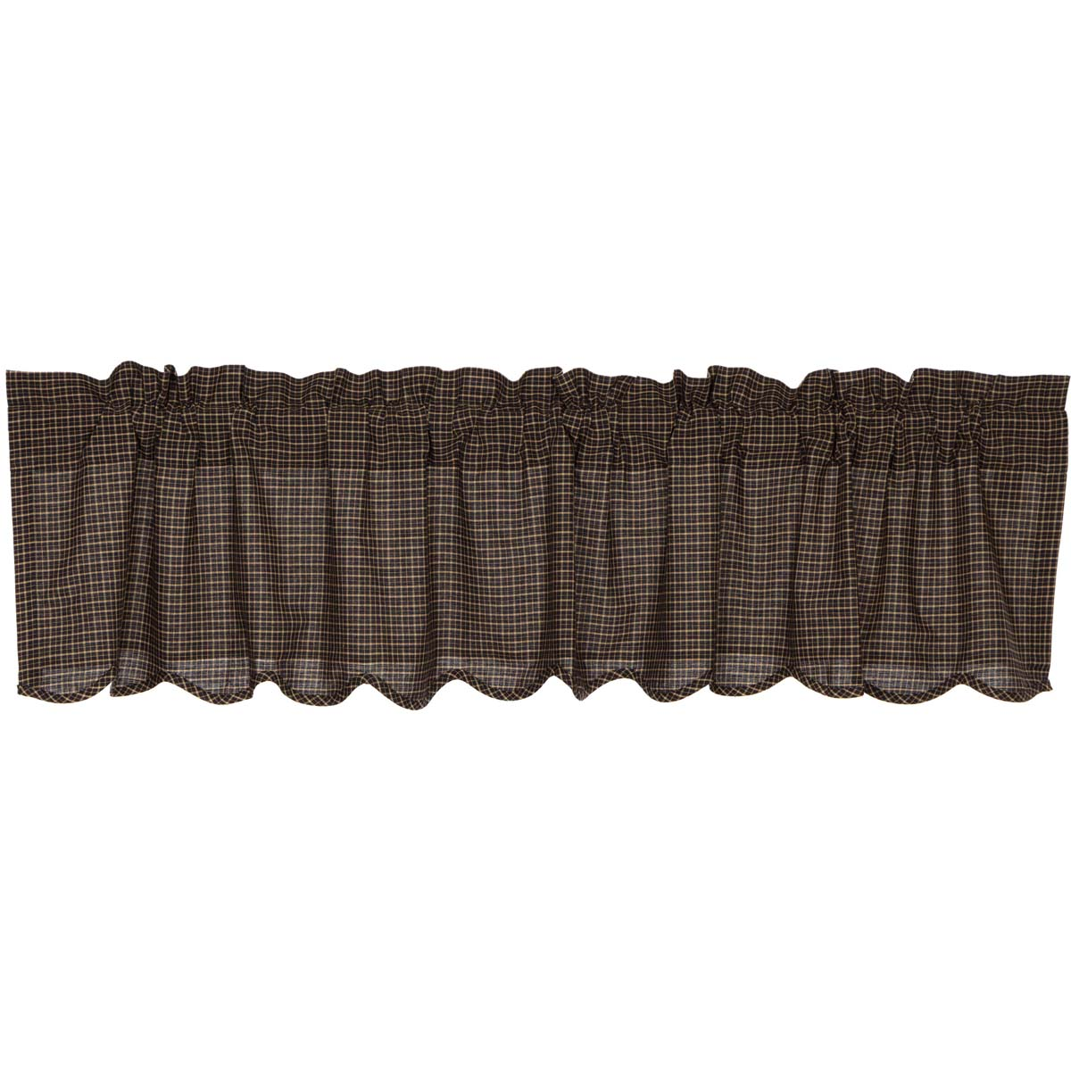 Kettle Grove Plaid Valance Scalloped16x72