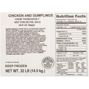 Quality Chef Chicken and Dumplings, 8 lb. image