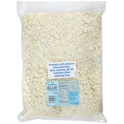 ATHENOS Blue Cheese Crumbles, 5 lb. Bag (Pack of 4)