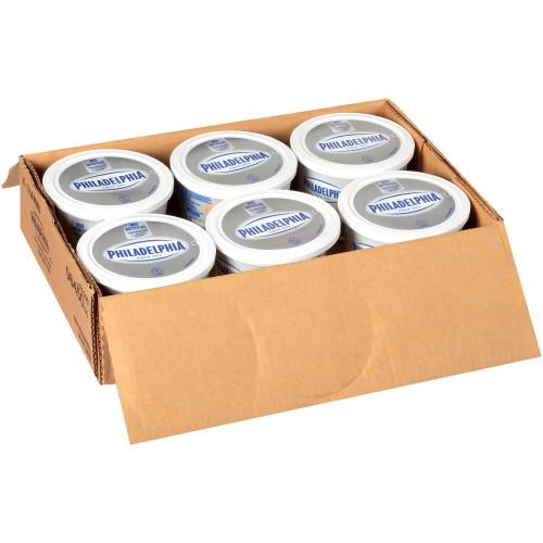PHILADELPHIA Chive & Onion Cream Cheese, 3 Lb. Tub (Pack of 6)