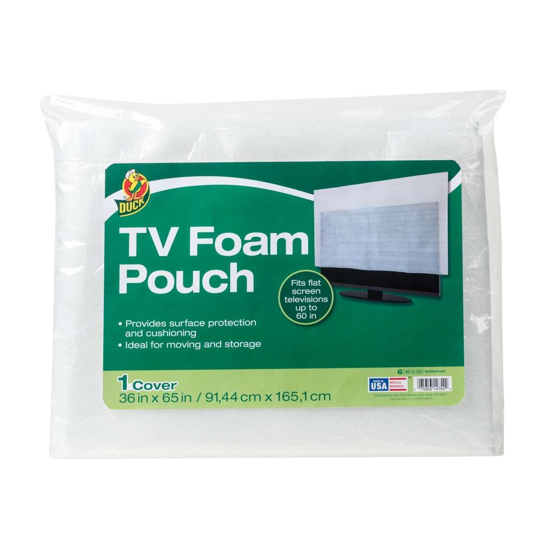 Duck® Brand TV Foam Pouch - White, 36 in. x 65 in. Image