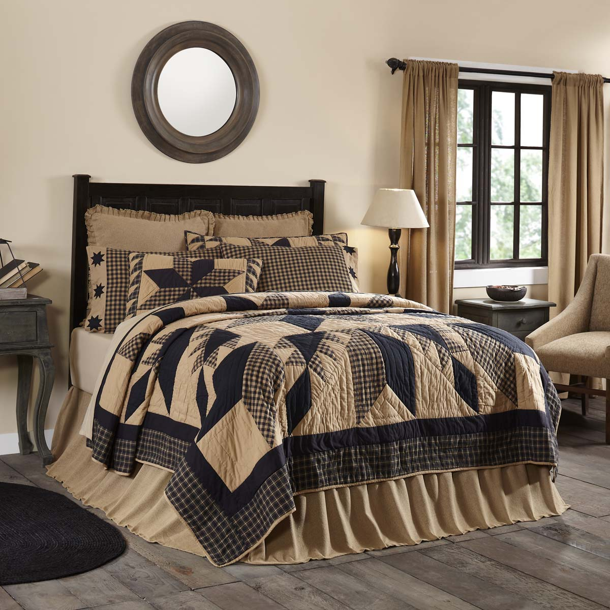 Dakota Star Luxury King Quilt 120Wx105L