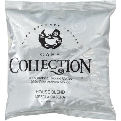 CAFÉ COLLECTIONS House Blend Roast & Ground Coffee, 10 oz. Bag (Pack of 24)