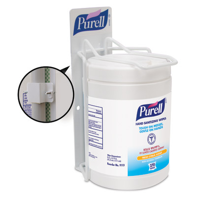 PURELL® Hand Sanitizing Wipes Clamp for Single Wipes Bracket