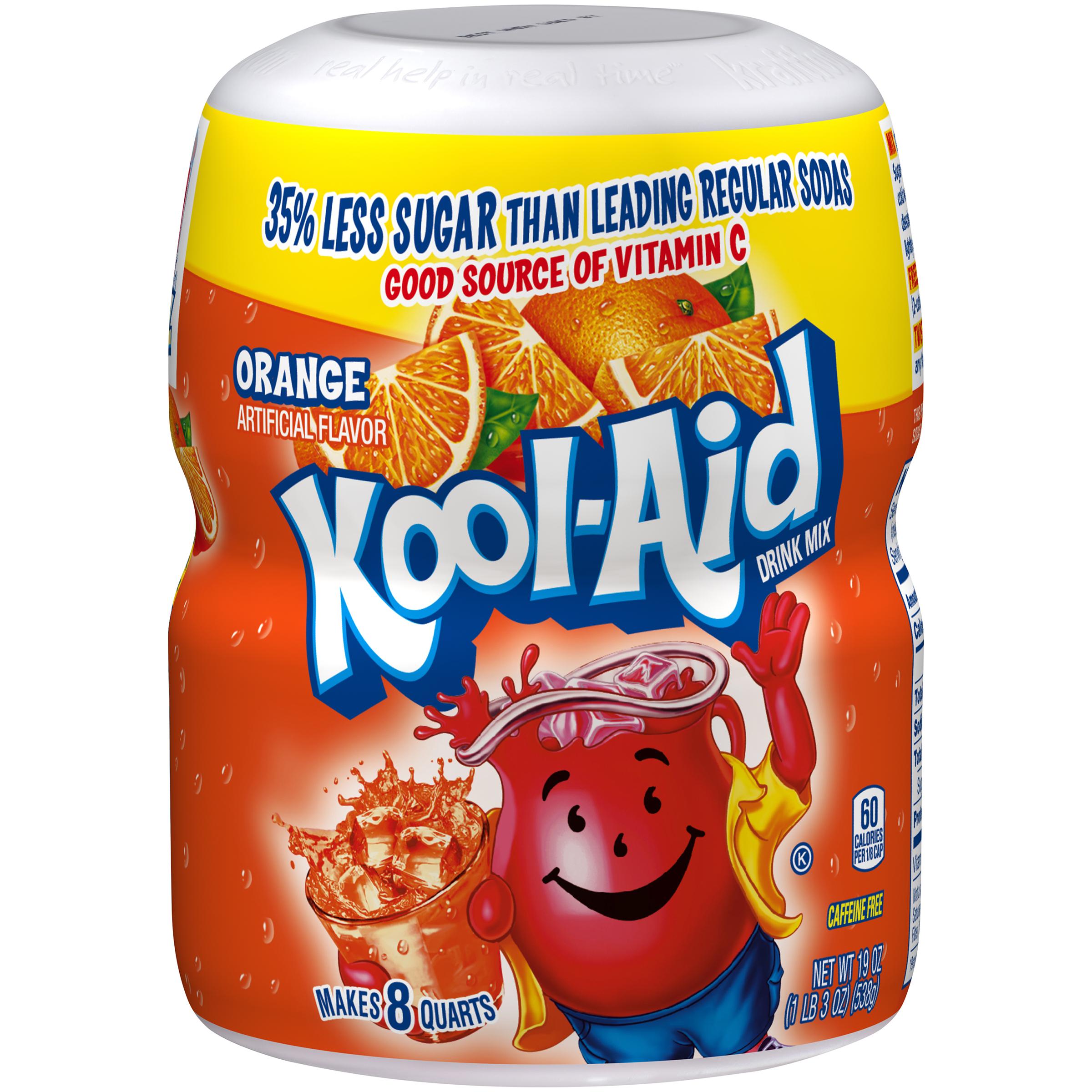 Kool-Aid Orange Drink Mix 19 oz. Canister image