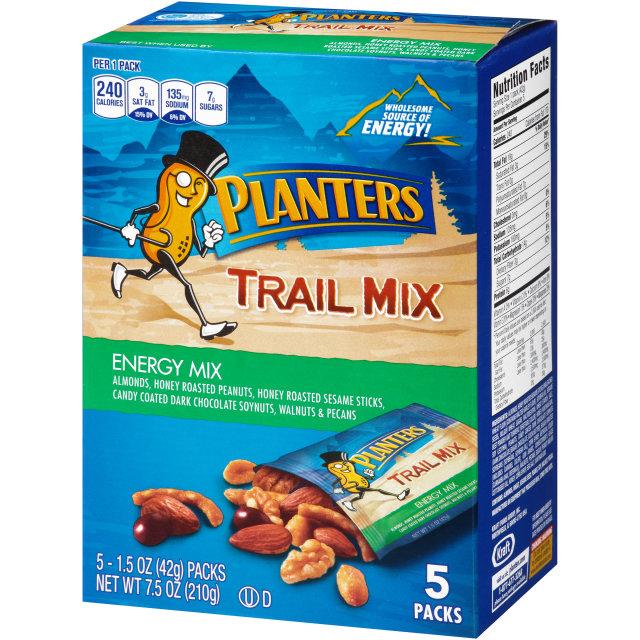 PLANTERS Trail Mix Energy Mix 7.5 oz Carton (5 Pack)