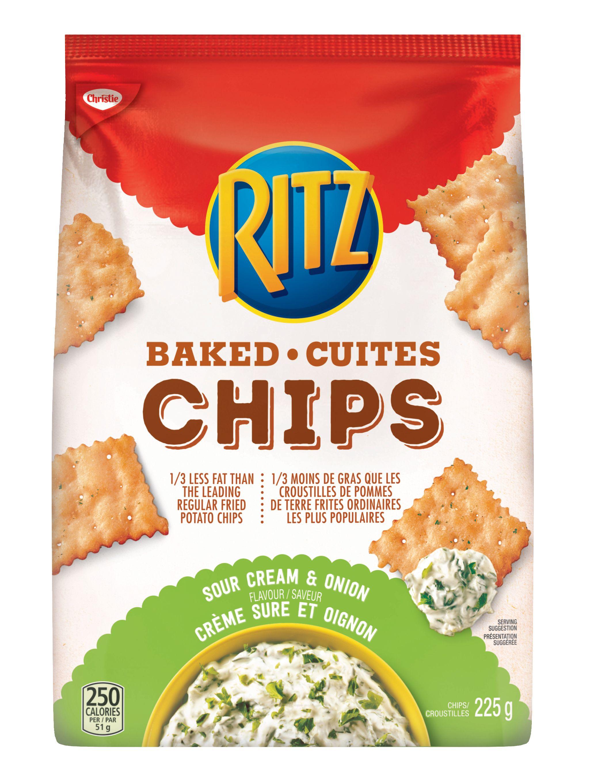 Chips Ritz Cuites Crème Sure Et Oignon 225 G