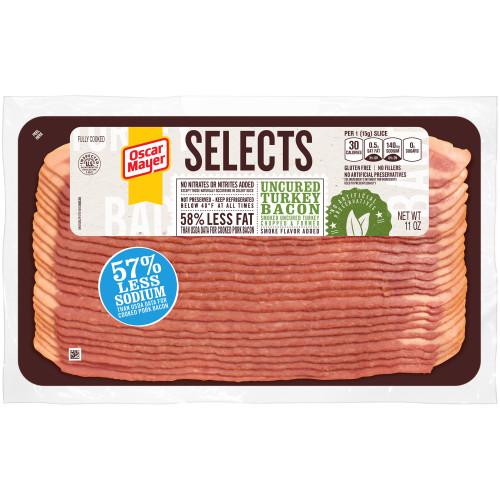 Oscar Mayer Selects Uncured Turkey Bacon, 11 oz