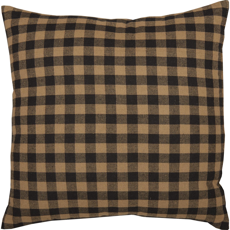 Black Check Fabric Pillow 12x12
