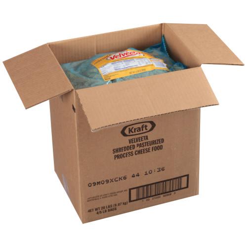 VELVEETA American Shredded Cheese, 5 Lb. Pouch (Pack of 4)