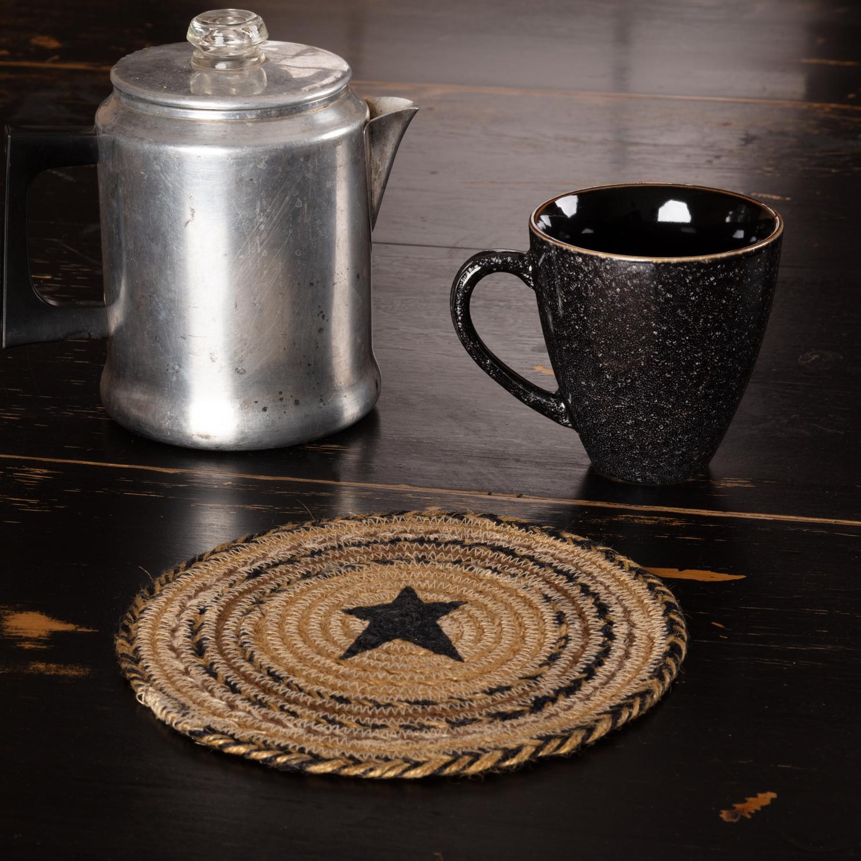 Kettle Grove Jute Trivet Stencil Star 8