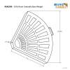 4 30 Lb Resin Umbrella Base Weights In Bronze Blue