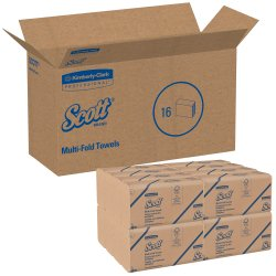 Scott Paper Towel Multi-Fold 9 X 9 Inch, 01801 - Case of 4000