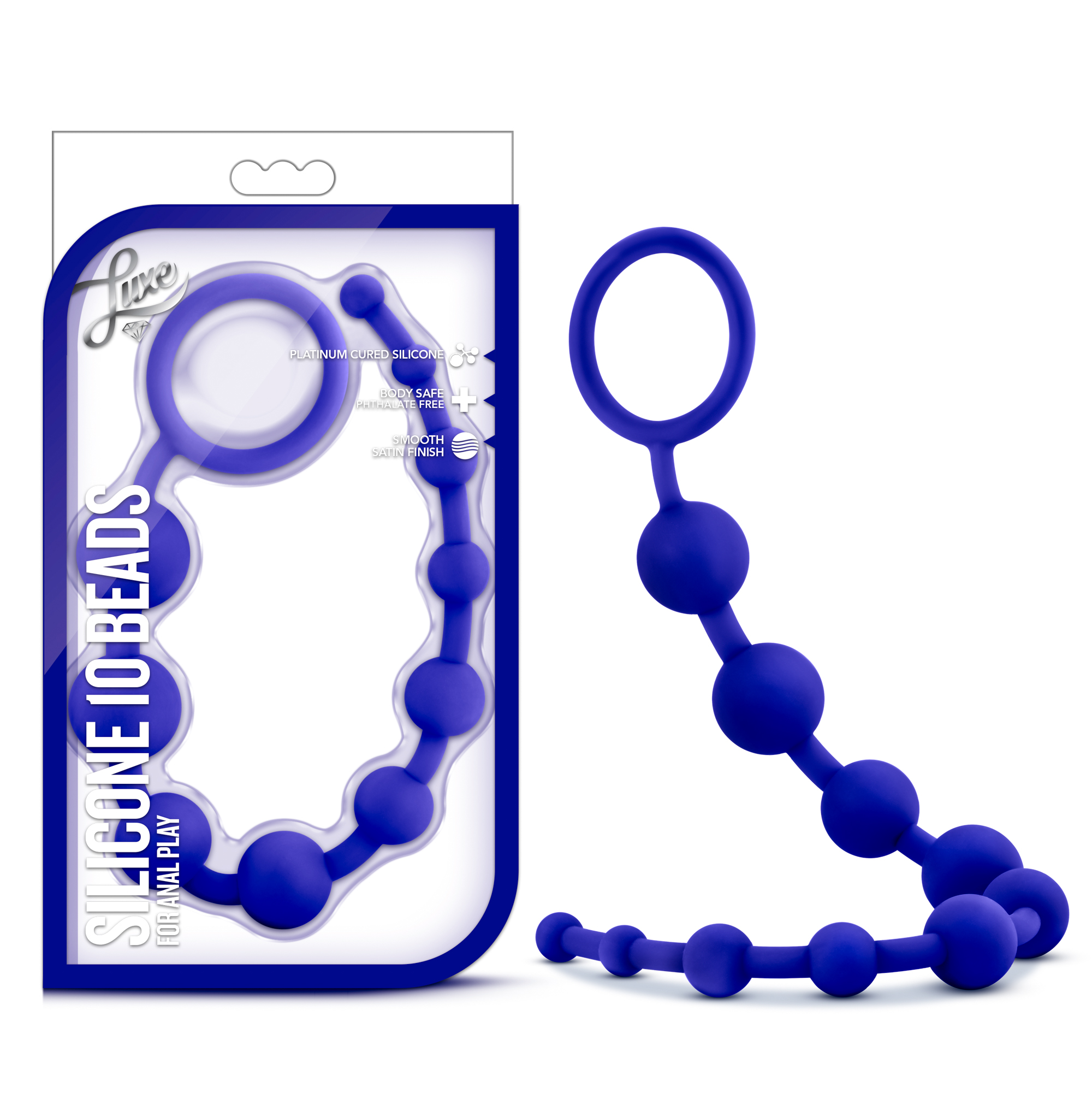 Luxe - Silicone 10 Beads - Indigo