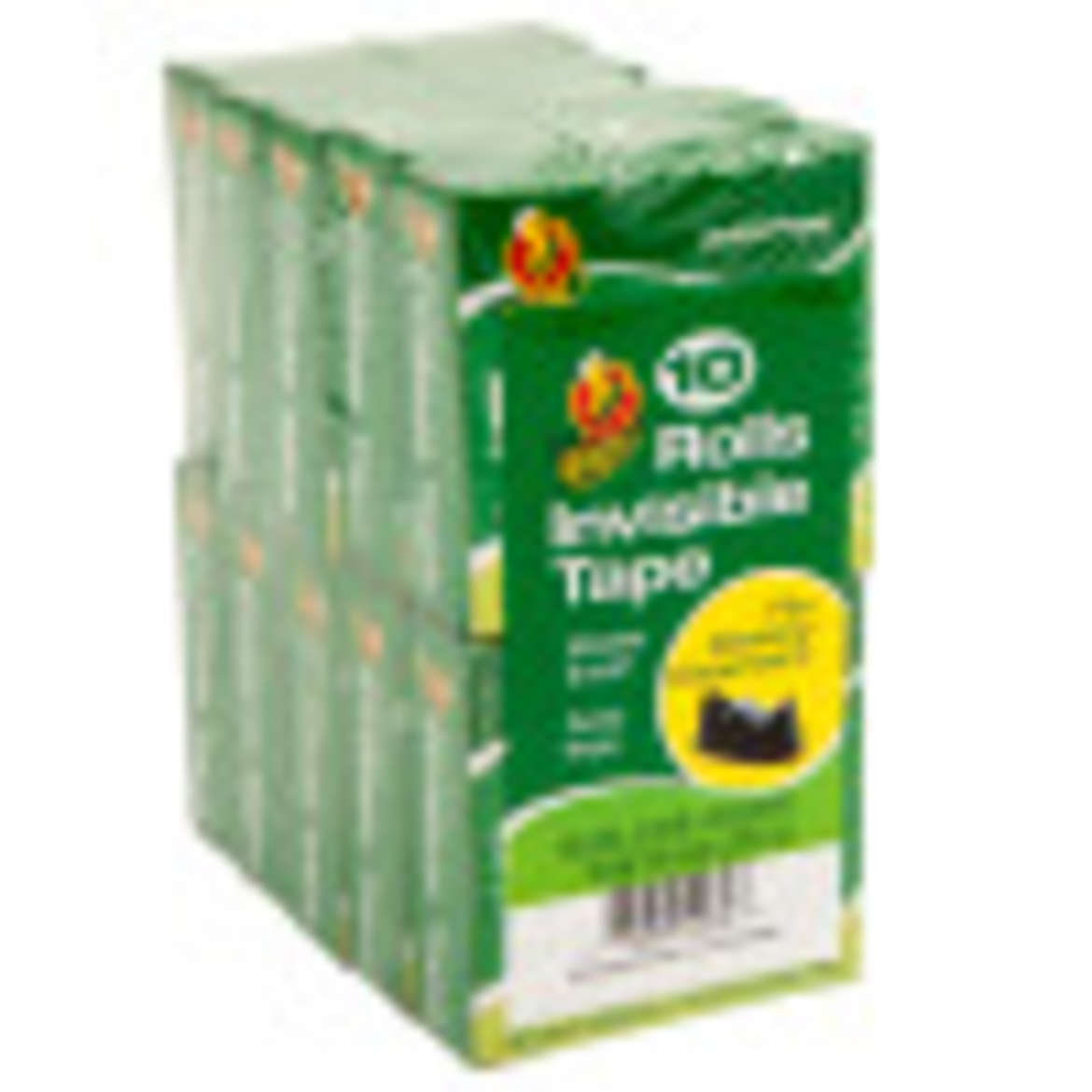 Duck® Brand Matte Finish Invisible Tape - Clear, 10 pk, .75 in. x 1000 in. Image