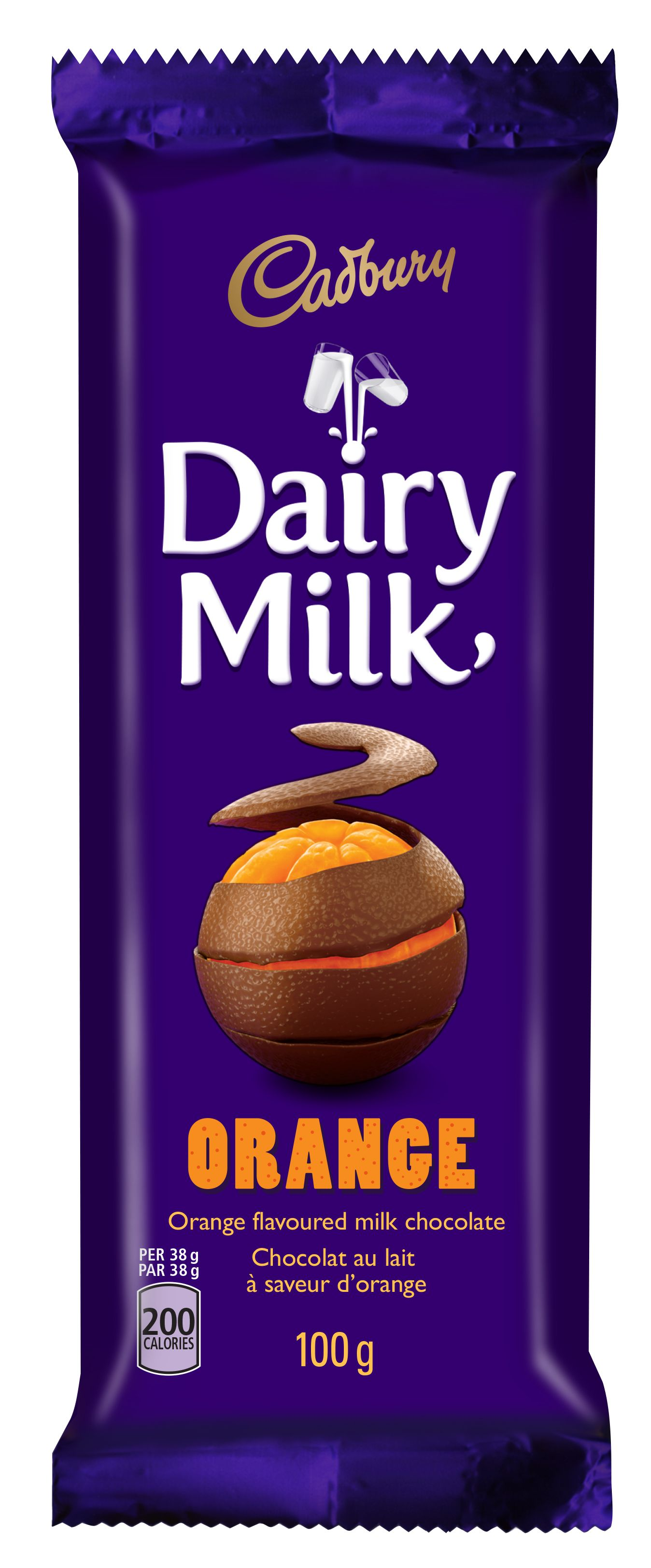 CADBURY DAIRY MILK  ORANGE 100 GRM