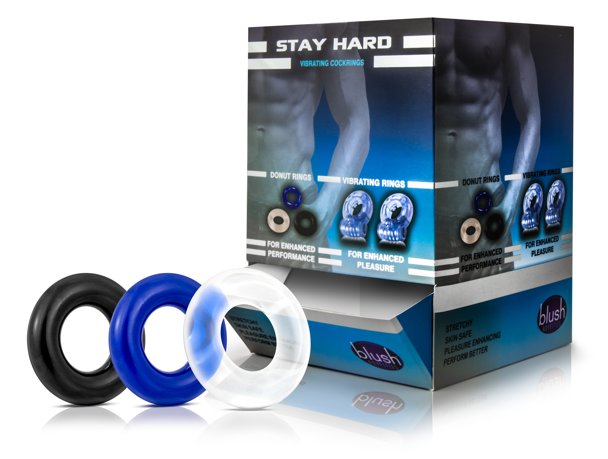 Stay Hard - Donut Rings - 50 Piece Display