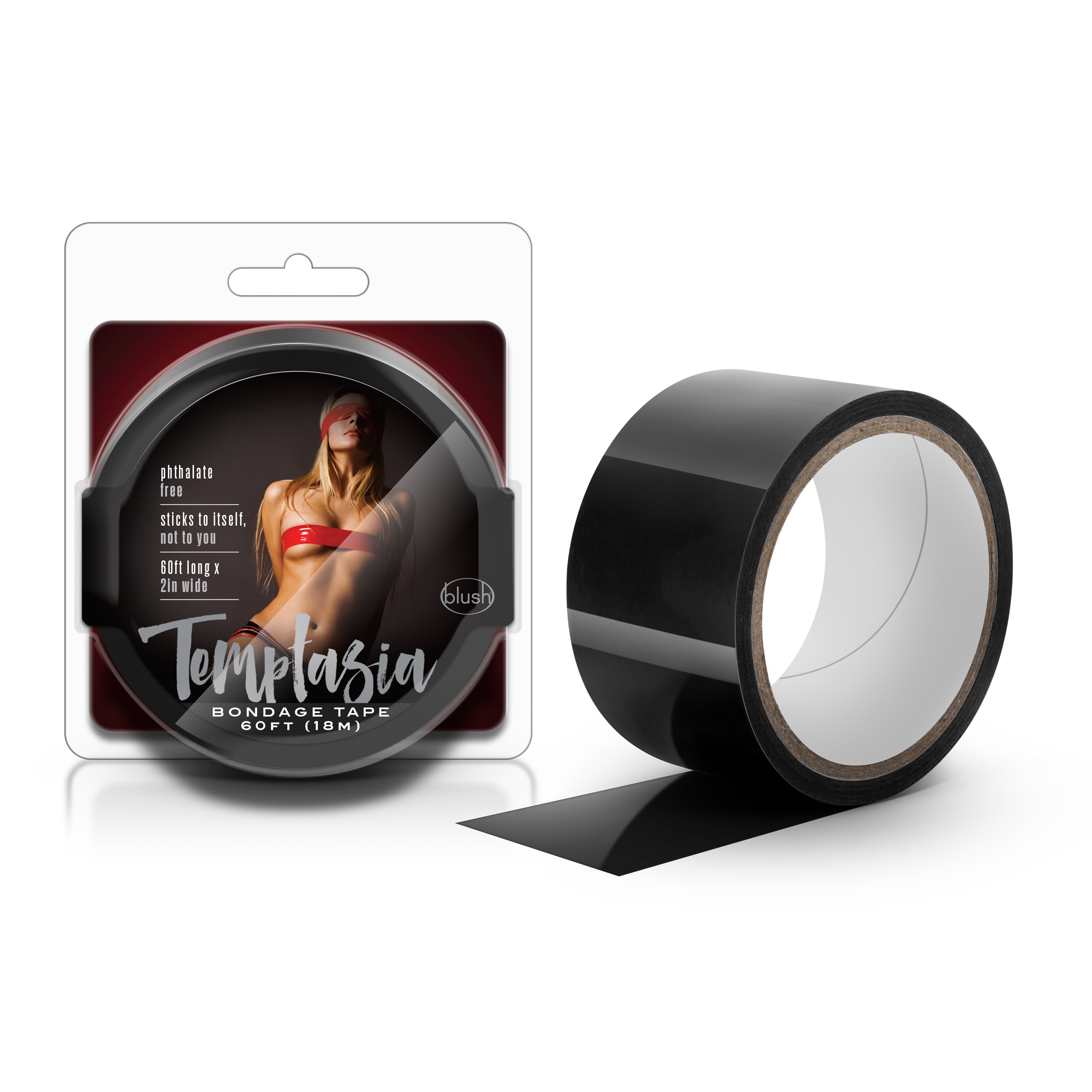 Temptasia - Bondage Tape - 60 Feet - Black