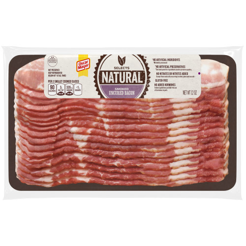 Oscar Mayer Natural Smoked Uncured Bacon, 12 oz