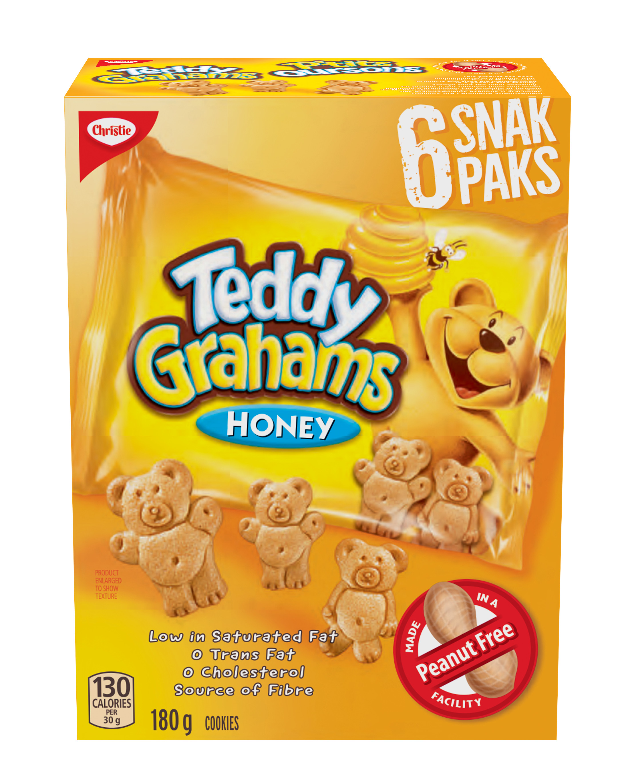 Teddy Grahams Honey Snak Paks 180 G