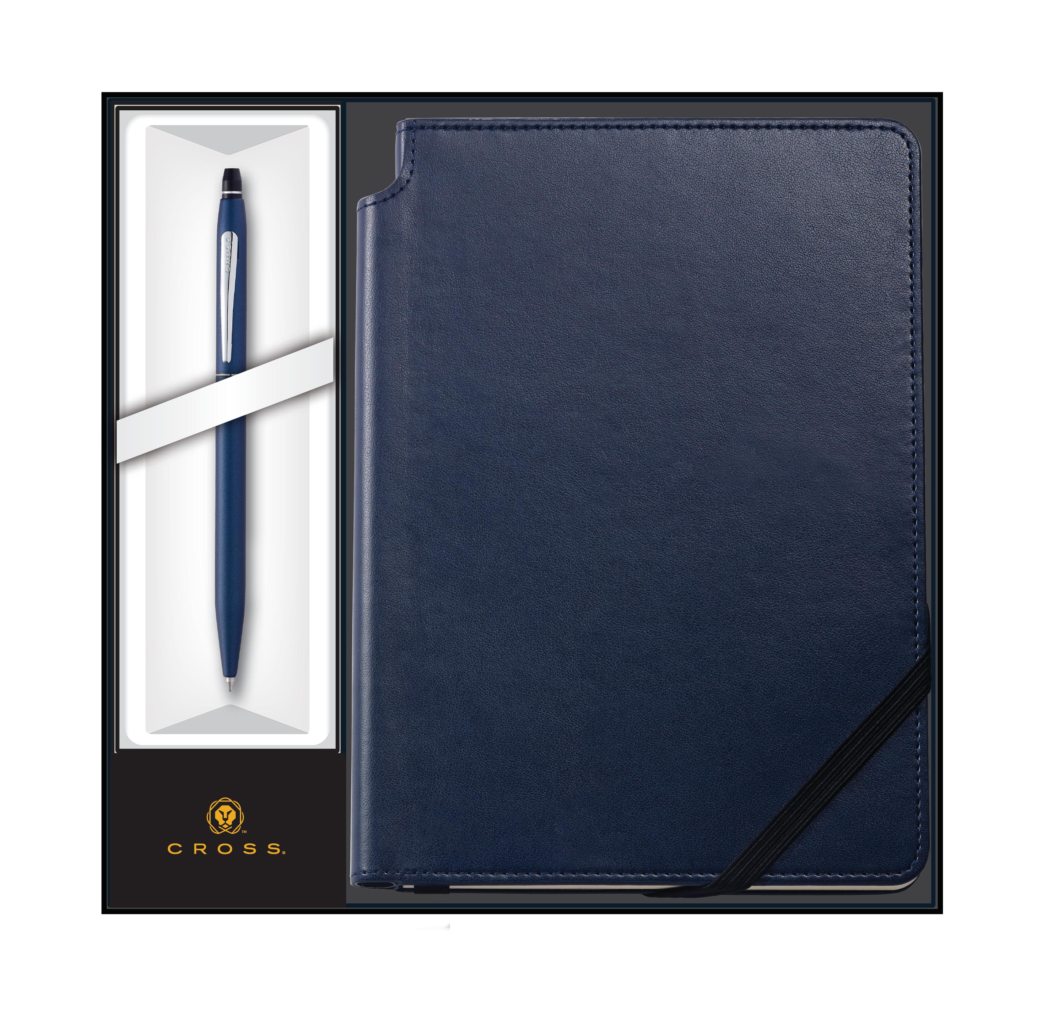 Click Midnight Blue Ballpoint Pen with Midnight Blue Journal Gift Set