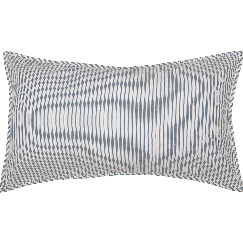 Sawyer Mill Blue Ticking Stripe King Sham 21x37