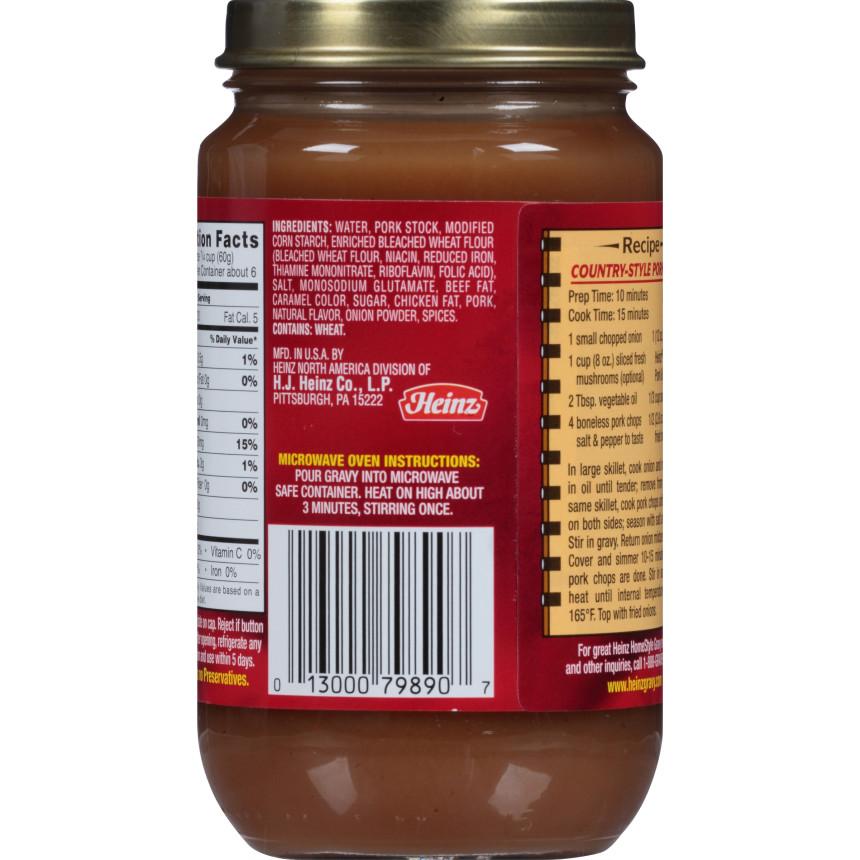 Heinz HomeStyle Pork Gravy 12 oz. Jar