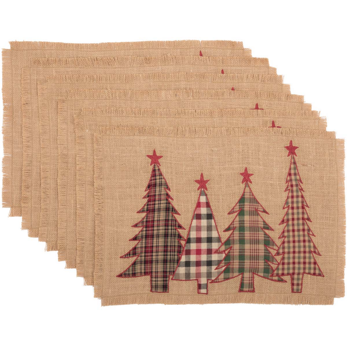 Clement Applique Tree Placemat Set of 6 12x18