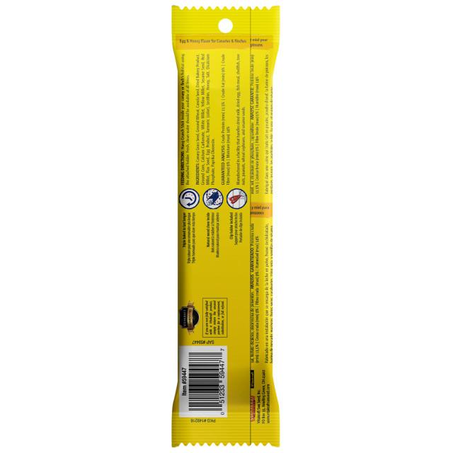 Back-Image showing Crunch Sticks Egg & Honey Flavor