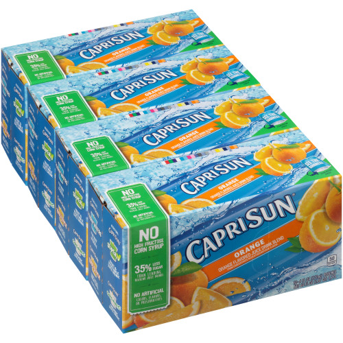 CAPRI SUN Orange Juice Pouch, 6 oz. Pouches (Pack of 40)